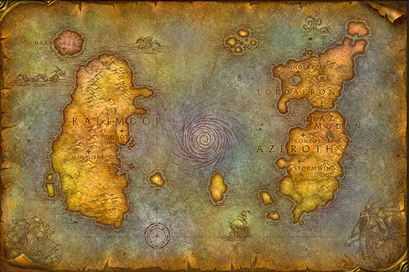 World map of WoW